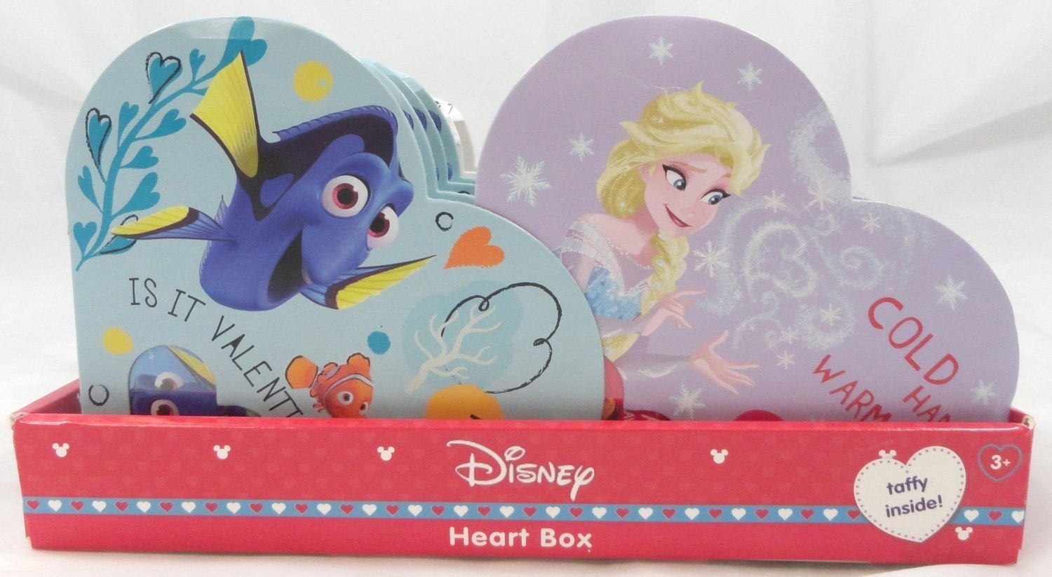Disney Assorted Taffy Small Heart Box - Finding Dory, Frozen, Mickey