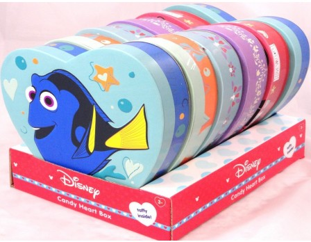 Disney Assorted Large Foam Heart Box with Taffy - Finding Dory, Frozen, & Mickey