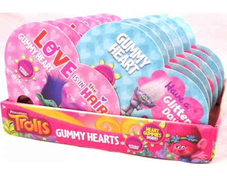 Dreamworks Trolls Trolls Small Gummy Heart Box